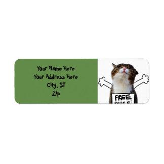 Cat hug - free hugs - cat memes label