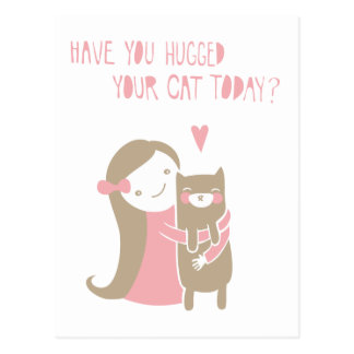 Cat Hug Postcard