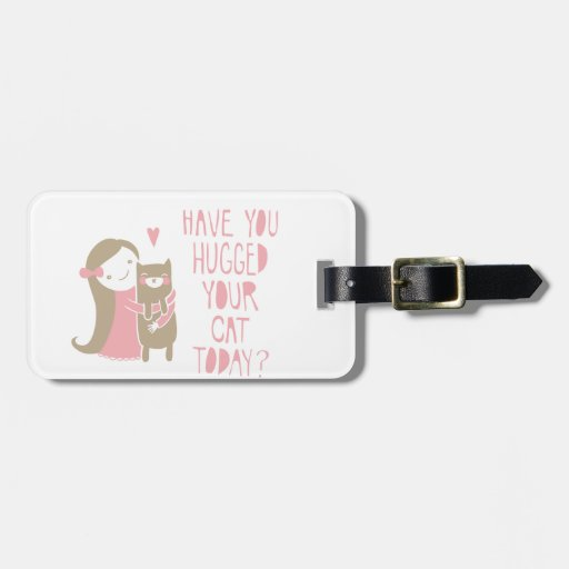 Cat Hug Tag For Bags
