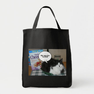 Cat Humor/long-haired Tote Bag