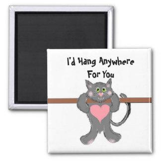 Cat Humour 2 Inch Square Magnet