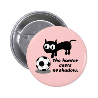 Cat Hunting A Ball Pinback Button