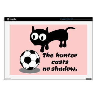 """Cat Hunting A Ball Decal For 17"""" Laptop"""
