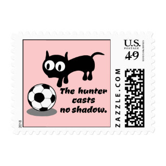 Cat Hunting A Ball Stamp
