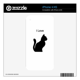 Cat - I love Decals For The iPhone 4