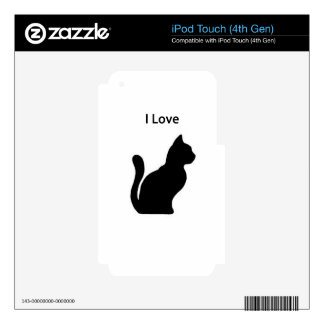 Cat - I love Skins For iPod Touch 4G