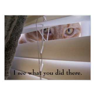 Cat - I See What You Did There Poster