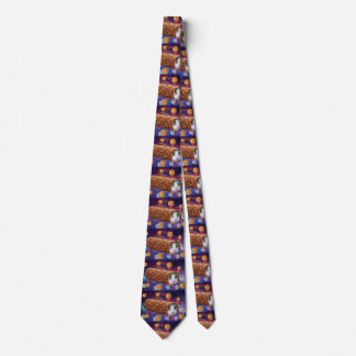 Cat ice cream - cats in space - funny cats neck tie