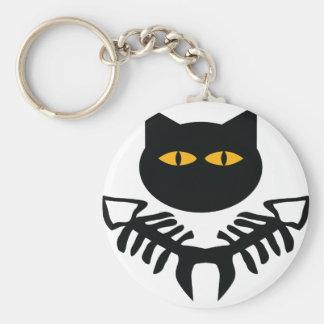 cat icon basic round button keychain