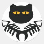 cat icon classic round sticker