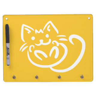 Cat Illustration custom message board