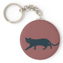 Cat illustration minimalism keychain