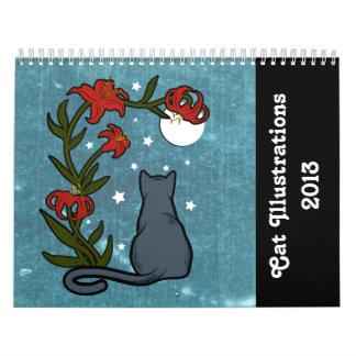 Cat Illustrations 2013 Calendar
