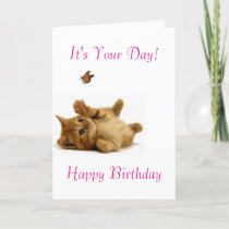 Cat image for birthday-greeting-card card