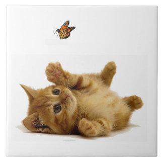 "Cat image for Large (6"" X 6"") Ceramic Photo Tile"