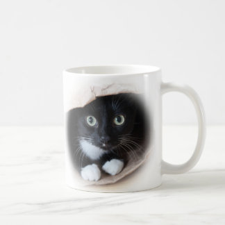 Cat in a bag coffee mug