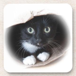 Cat in a bag coasters