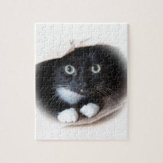 Cat in a bag jigsaw puzzle