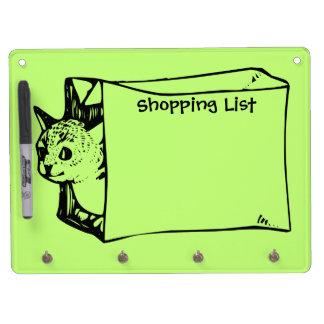 Cat in a Bag Shopping List Customizable Board