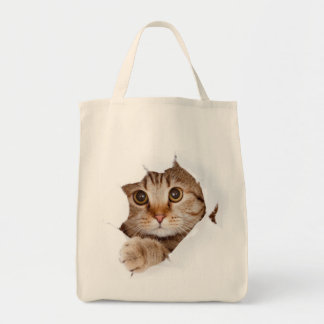 Cat in a bag! tote bag