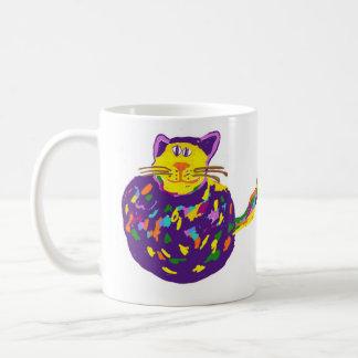 Cat in a ball mug