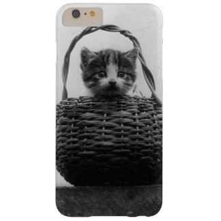Cat in a Basket Vintage Photo Barely There iPhone 6 Plus Case