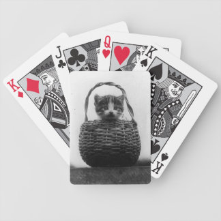 Cat in a Basket Vintage Photo Bicycle Playing Cards