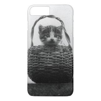 Cat in a Basket Vintage Photo iPhone 8 Plus/7 Plus Case