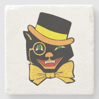 Cat in a Black Top Hat Stone Coaster