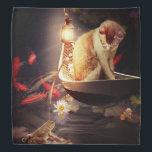 "Cat in a Boat Bandana<br><div class=""desc"">Beautiful Scene of cat in a boat on a pond.</div>"