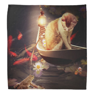 Cat in a Boat Bandana