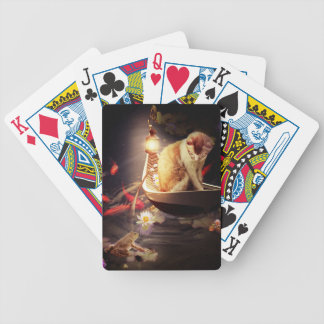 Cat in a Boat Bicycle Playing Cards
