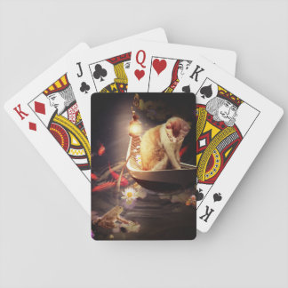 Cat in a Boat Playing Cards