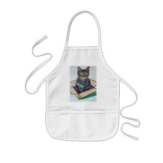Cat in a Box Kids' Apron
