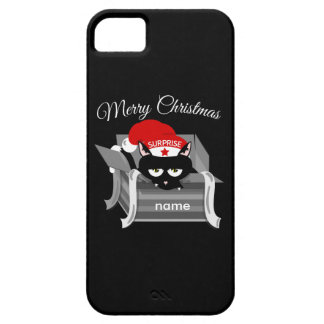 Cat in a box Merry Christmas iPhone SE/5/5s Case