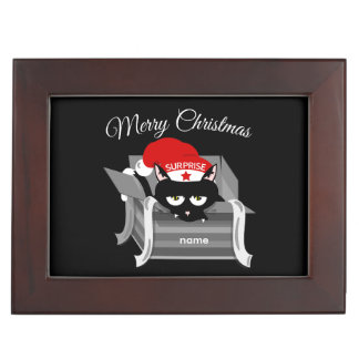 Cat in a box Merry Christmas Memory Boxes