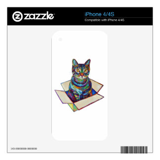 Cat In A Box Skins For The iPhone 4