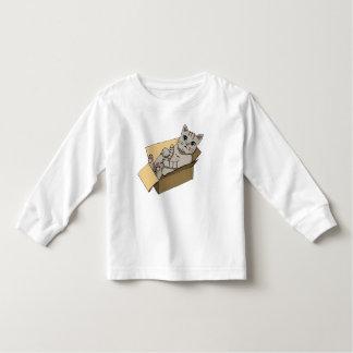 Cat in a Cardboard Box Illustration Toddler T-shirt