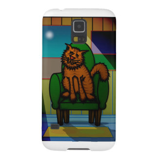 Cat in a chair case for galaxy s5