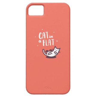 Cat in a Flat iPhone SE/5/5s Case