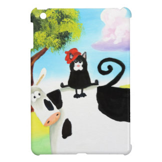 cat in a hat on a cow case for the iPad mini