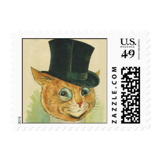 Cat in a Hat Postage Stamp