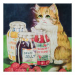cat in a jam poster