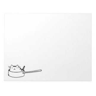 Cat in a Pot Notepad (Large)