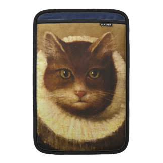 Cat In A Ruff Cute Victorian Art Vintage Painting Sleeve For MacBook Air