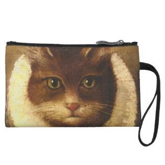 Cat In A Ruff Cute Victorian Art Vintage Painting Wristlet Wallet