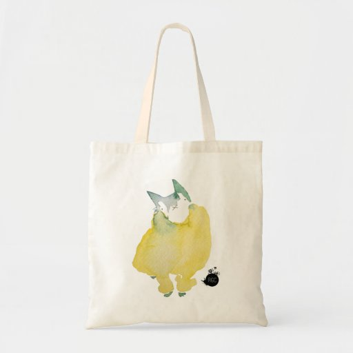 Cat in a Yellow Sweater Tote Bags