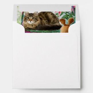 Cat in Basket Envelope