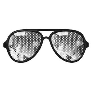 Cat in black and white aviator sunglasses