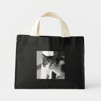 Cat in Black and white tote bag